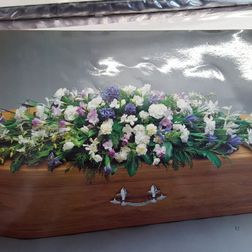 Coffin spray approx 4ft from £120. Approx 5ft from £150