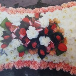Pillow with carnation edge from £85