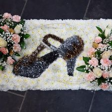 flowers in shoe shape