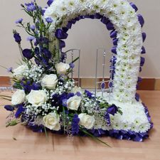 wreath purple and white